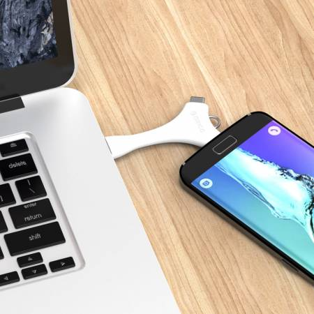 Кабел Orico Dual Port Portable Sync&Charge C1-WH