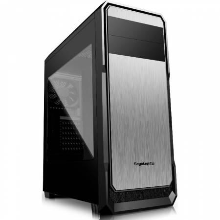 Кутия за настолен компютър Segotep The Wind Black