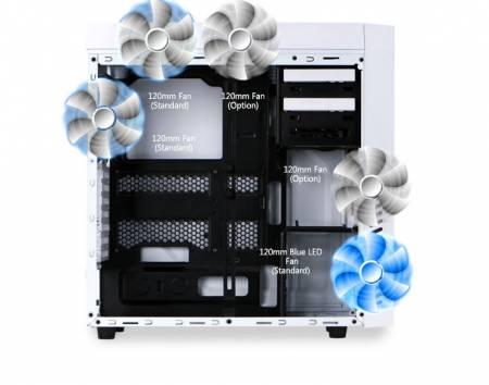 Кутия за настолен компютър Zalman R1 White