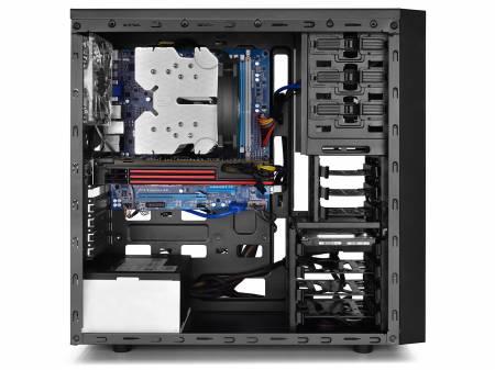 Кутия за настолен компютър DeepCool Tesseract SW Blue Mid Tower