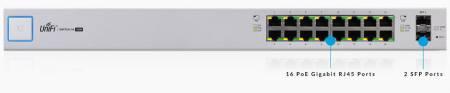 Комутатор Ubiquiti UniFi Switch UBNT US-16-150W с 16 Gigabit порта