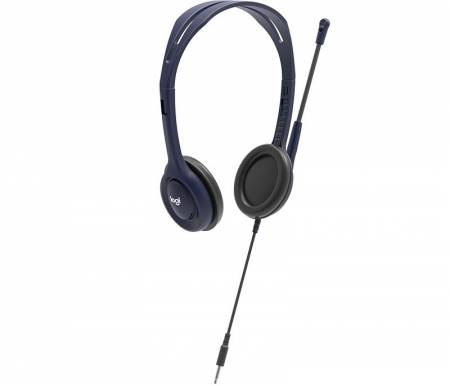 Logitech Wired 3.5mm Headset with Mic - Midnight blue