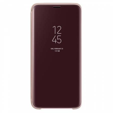 Samsung S9 Clear View Standing Cover Gold