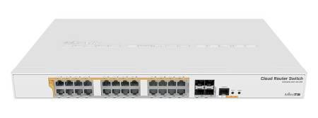 24 портов гигабит Ethernet комутатор MIKROTIK CRS328-24P-4S+RM