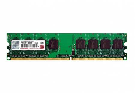 Transcend 512MB 240pin DIMM DDR2 PC667 CL5 Gold Lead