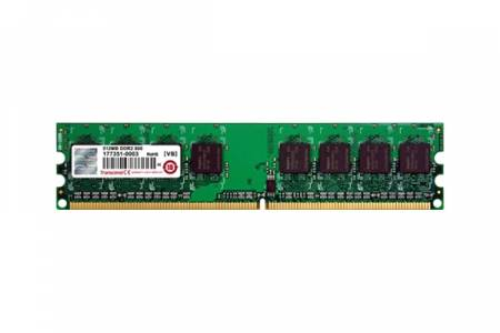 Transcend 256MB 240pin DIMM DDR2 PC533 CL4 Gold Lead