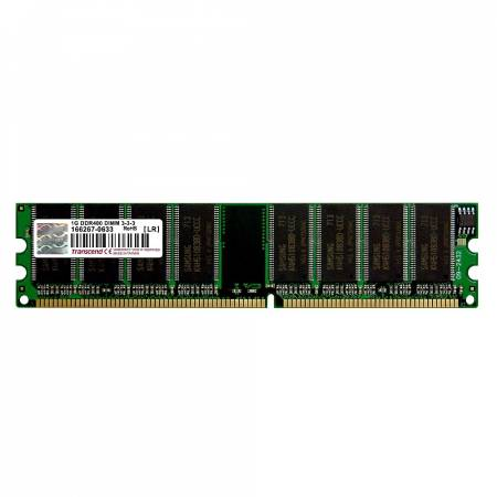 Transcend 1GB 184 pin DIMM DDR400 CL3 Gold Lead