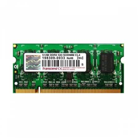 Transcend 512MB 200pin SO-DIMM DDR2 PC533 CL4 Gold Lead