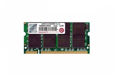 Transcend 256MB 200pin SO-DIMM DDR333 CL2.5 Gold Lead