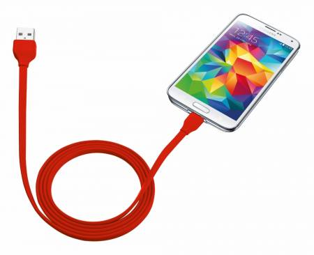 TRUST Flat Micro-USB Cable 1m - red