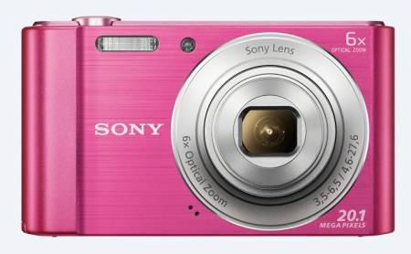 Sony Cyber Shot DSC-W810 pink + Transcend 8GB micro SDHC UHS-I Premium (with adapter