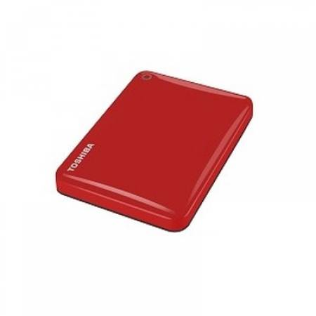 "Toshiba ext. drive 2.5"" Canvio Alu 1TB Red"