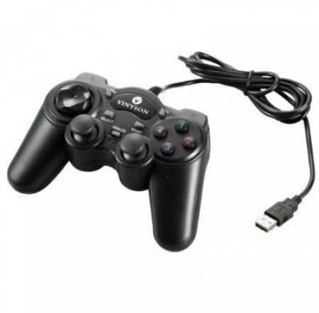 Жичен геймпад ESTILLO 703  Dual Vibration USB Черен EST-USB703