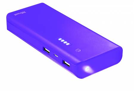 TRUST Primo Power Bank 10000 - purple
