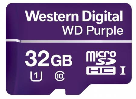 МicroSD Card 32GB WD Purple Class 10 UHS Speed Class 1 (U1) microSDHC
