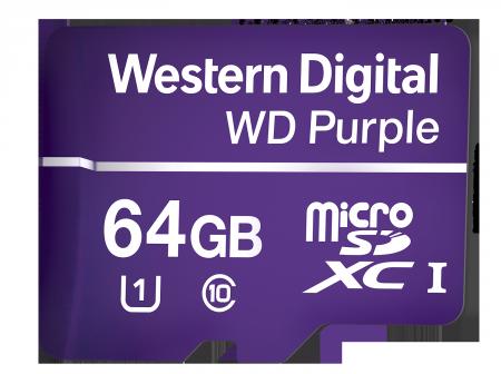 МicroSD Card 64GB WD Purple Class 10 UHS Speed Class 1 (U1) microSDXC
