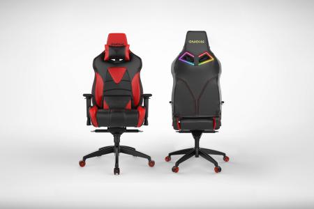 Геймърски стол GAMDIAS Achilles M1 L черно-червен