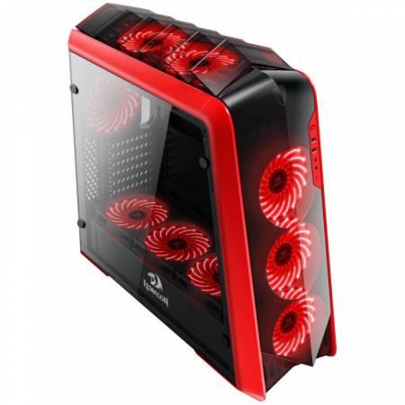 Кутия за настолен компютър REDRAGON JETFIRE mid tower черно-червена