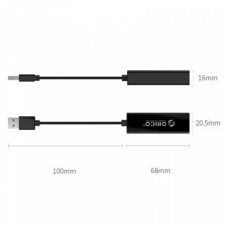 Преходник USB 2.0 към Fast Ethernet ORICO UTJ-U2
