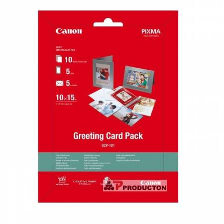 Canon Greeting Card Pack (GCP-101) with photo paper 10x15 cm