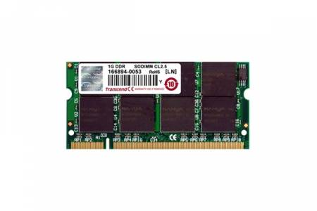 Transcend 1GB 200pin SO-DIMM DDR266 CL2.5 Gold Lead