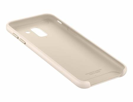 Samsung J6 Dual Layer Cover Gold