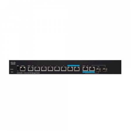 Cisco SG350-8PD 8-Port 2.5G PoE Managed Switch