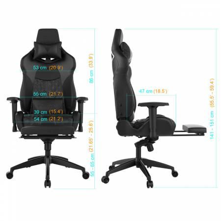 Геймърски стол Gamdias Achilles P1 L черен