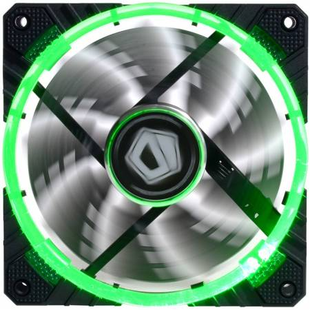 Вентилатор ID-Cooling CF-12025-G 120mm LED зелен цвят
