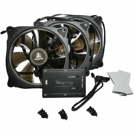 Комплект от 3бр. вентилатори Segotep Halo Ring RGB 120 mm