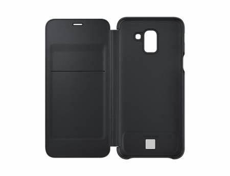 Samsung J6 Wallet Cover Black