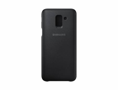 Samsung J6 Wallet Cover Black