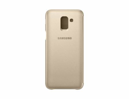 Samsung J6 Wallet Cover Gold