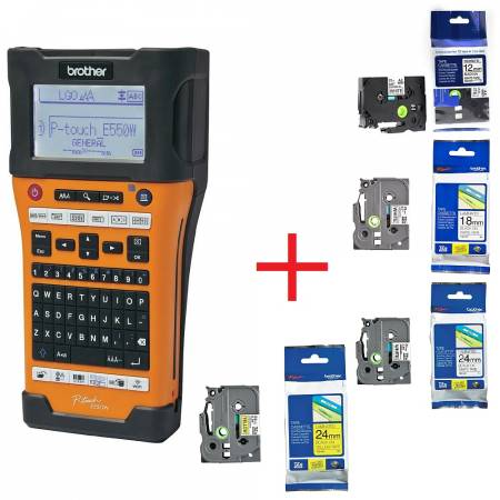 Brother PT-E550WVP Handheld Industrial Labelling system + 1x TZEFX231