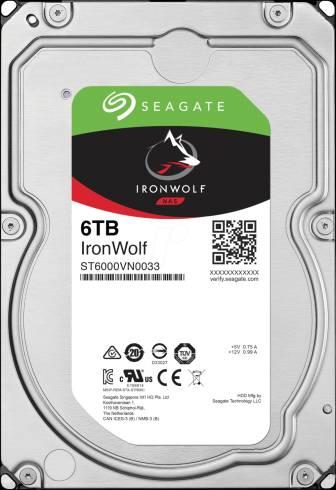 "Seagate IronWolf 6TB NAS 7200 128MB Cache SATA 3.5"""