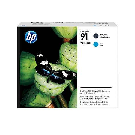 Консуматив HP 91 Printhead/91 Matte Black/Cyan Original Ink Cartridge Value Pack