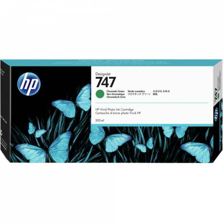 Консуматив HP 747 300-ml Chromatic Green DesignJet Ink Cartridge