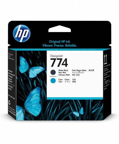 Консуматив HP 774 Matte Black/Cyan Printhead