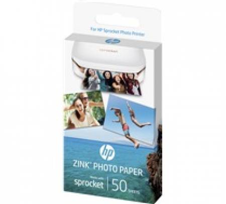 Хартия HP Sprocket Photo Paper-50 sticky-backed sheets/5 x 7.6 cm (2 x 3 in)