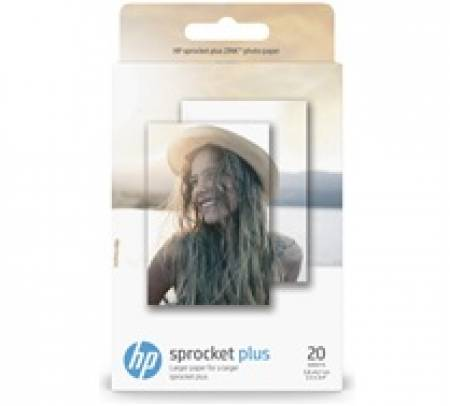 Хартия HP Sprocket Plus Photo Paper-20 sticky-backed sheets/5.8 x 8.7 cm (2.3 x 3.4 in)