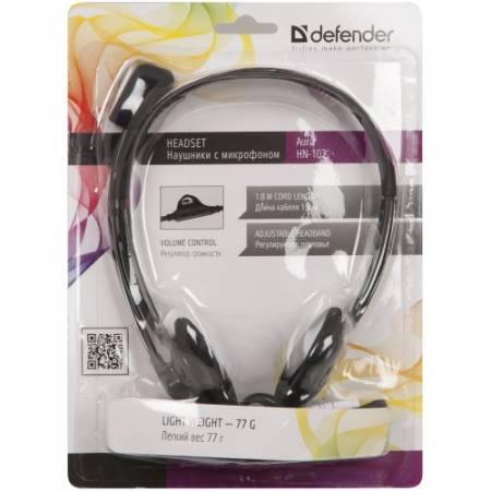 Стерео слушалки с микрофон Defender HN-102