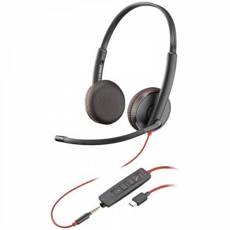 Слушалка с микрофон Plantronics Blackwire C3225 Duo USB-A