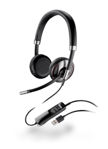 Слушалка с микрофон Plantronics Blackwire C720 Duo USB-A