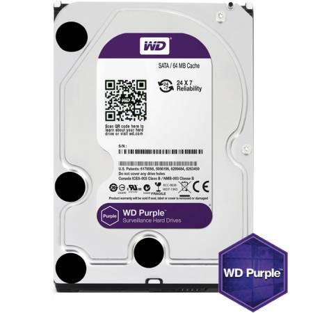 Твърд диск WD 1TB SATAIII Purple 64MB for DVR/Surveillance WD10PURZ