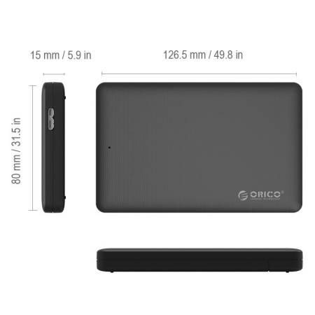 """Кутия за диск ORICO 2577U3 черна за 2.5"""" HDD/SSD"""