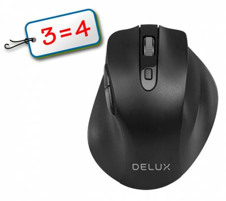 Безжична оптична мишка DELUX DLM-517GX 3=4