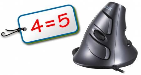 Оптична вертикална мишка Delux M618BU 4=5