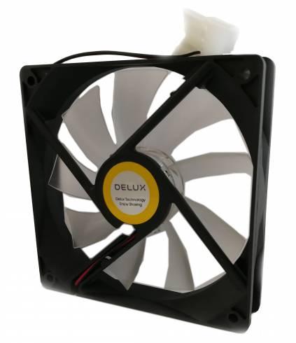 Охладител за кутия DELUX CF4 120 мм WHITE LED