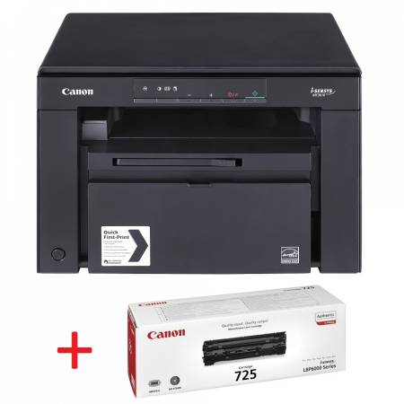 Canon i-SENSYS MF3010 Printer/Scanner/Copier + Canon CRG725 Toner Cartridge