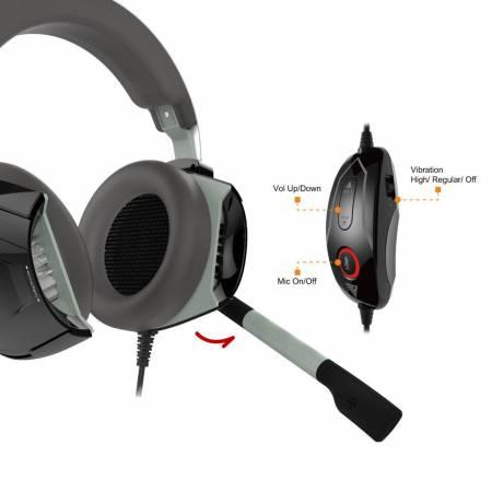 7.1-канални геймърски слушалки с микрофон Gamdias Hephaestus P1 RGB